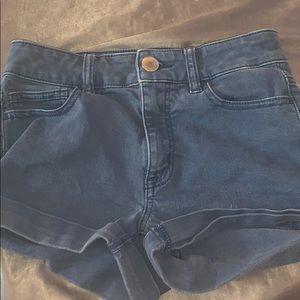 Blue Highwaisted AE Shorts